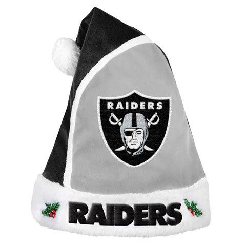 Oakland Raiders Official NFL 2015 Holiday Santa Hat