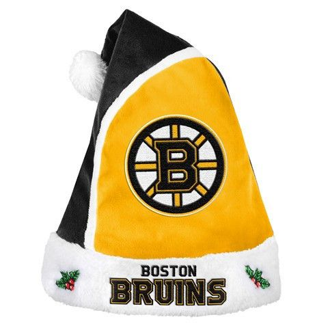 Boston Bruins Official NHL 2015 Holiday Santa Hat