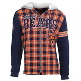 Chicago Bears Official NFL Flannel Fleece Hoodie
