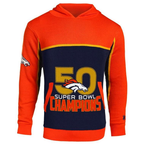 Denver Broncos Super Bowl 50 Champions Hooded Sweater by Klew