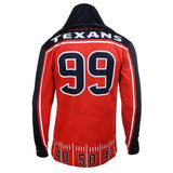 Houston Texans Watt J. #99 Official NFL Polyester Player Hoody Tee