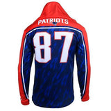 New England Patriots Gronkowski R. #87 Official NFL Polyester Player Hoody Tee