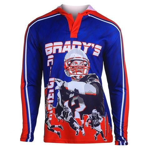 New England Patriots Brady T. #12 Official NFL Polyester Player Hoody Tee