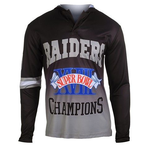 Los Angeles Raiders Super Bowl XVIII Official NFL Champions Poly Hoody Tee
