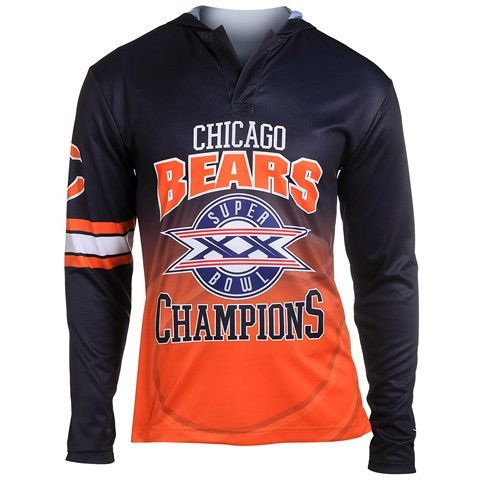 Chicago Bears Super Bowl Xx Official NFL Champions Poly Hoody Tee