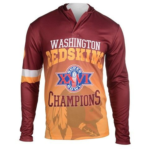Washington Redskins Super Bowl XXVI Official NFL Champions Poly Hoody Tee