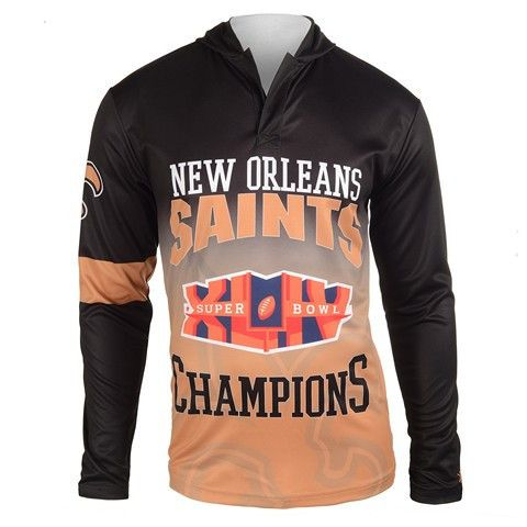 New Orleans Saints Super Bowl Xliv Official NFL Champions Poly Hoody Tee