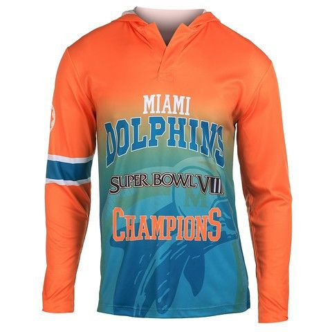 Miami Dolphins Super Bowl VIII Official NFL Champions Poly Hoody Tee
