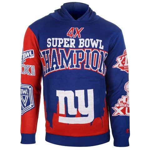 New York Giants Official NFL Super Bowl Commemorative Acrylic Hoody