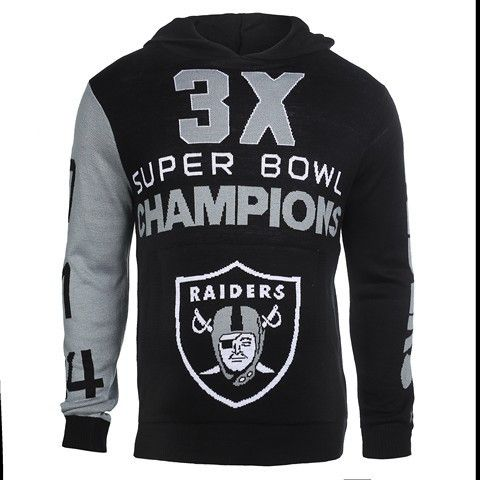 Oakland Raiders Official NFL Super Bowl Commemorative Acrylic Hoody
