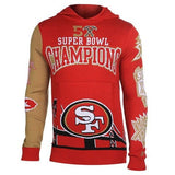 San Francisco 49ers Official NFL Super Bowl Commemorative Acrylic Hoody