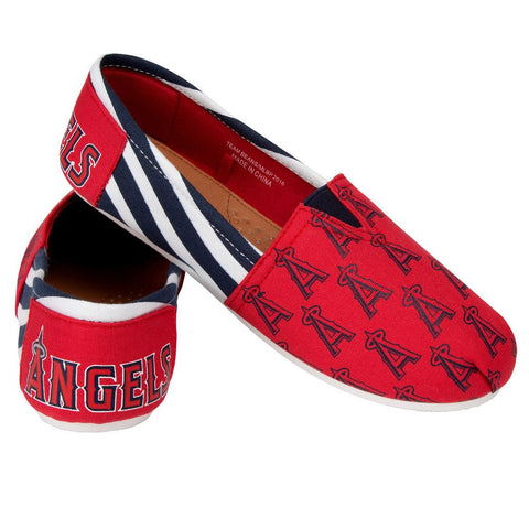 Los Angeles Angels Official MLB Stripe Canvas Shoes