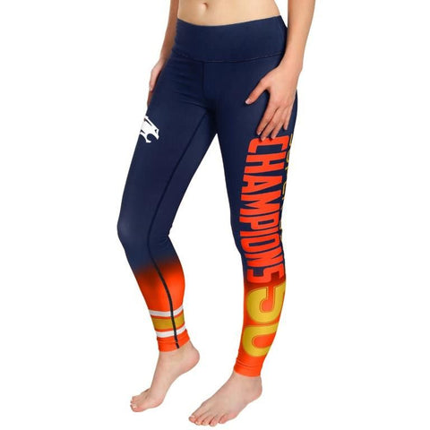 Denver Broncos Super Bowl 50 Champions Official Women's NFL Gradient Leggings