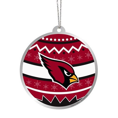 Arizona Cardinals Official NFL Metal Ornate Ball Ornament