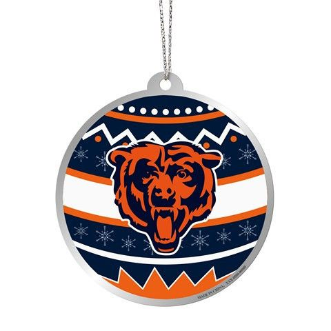 Chicago Bears Official NFL Metal Ornate Ball Ornament