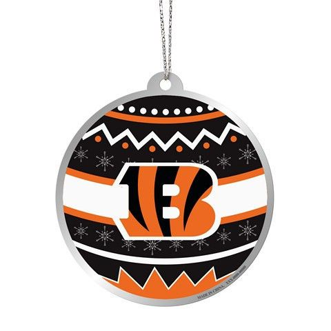 Cincinnati Bengals Official NFL Metal Ornate Ball Ornament