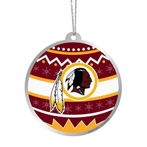 Washington Redskins Official NFL Metal Ornate Ball Ornament