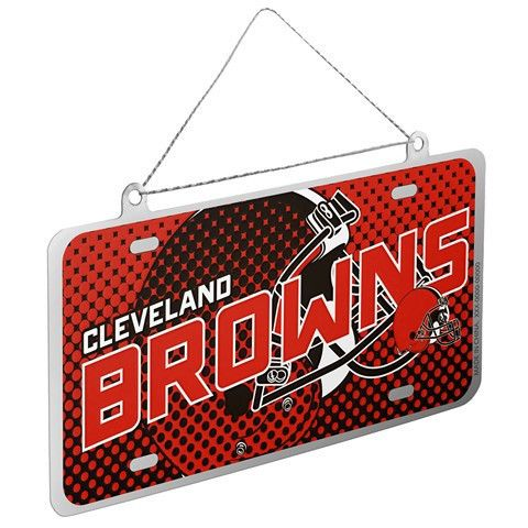 Cleveland Browns Official NFL 2015 Metal License Plate Ornament