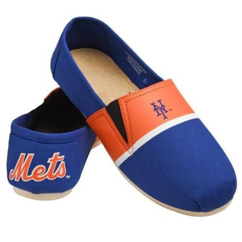 NY Mets Official MLB Stripe Canvas Shoes - Men