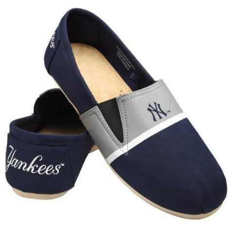 NY Yankees Official MLB Stripe Canvas Shoes - Men