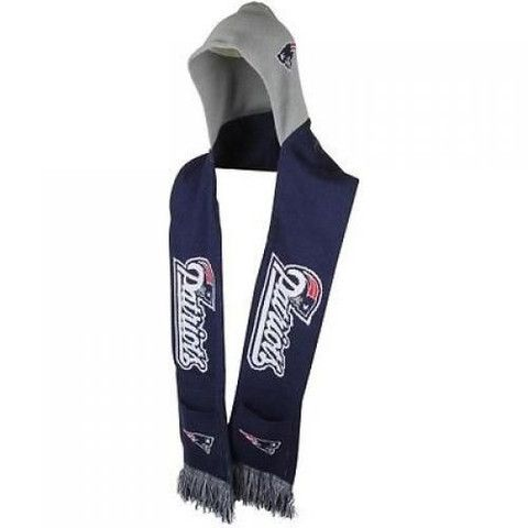 New England Patriots NFL Knit Hooded Scarf