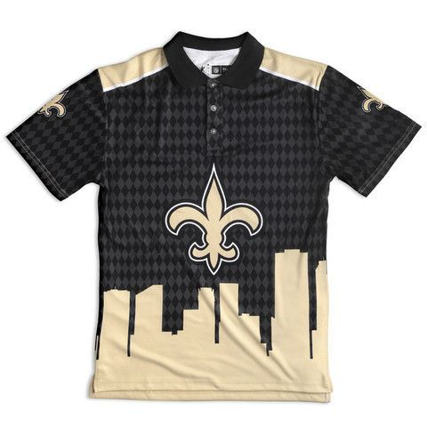 New Orleans Saints Official NFL Thematic Polyester Polo Shirt