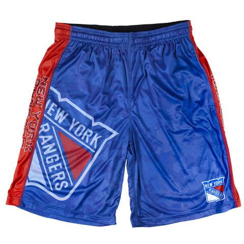 New York Rangers Official NHL Big Log Camo Shorts