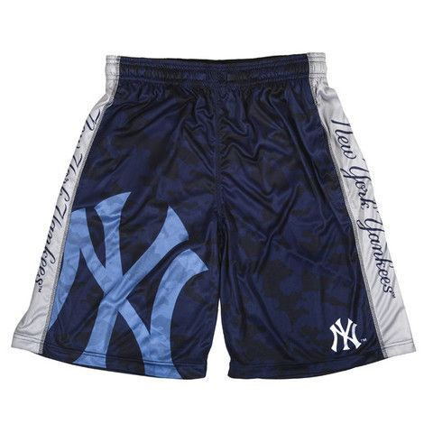 New York Yankees Official MLB Big Log Camo Shorts