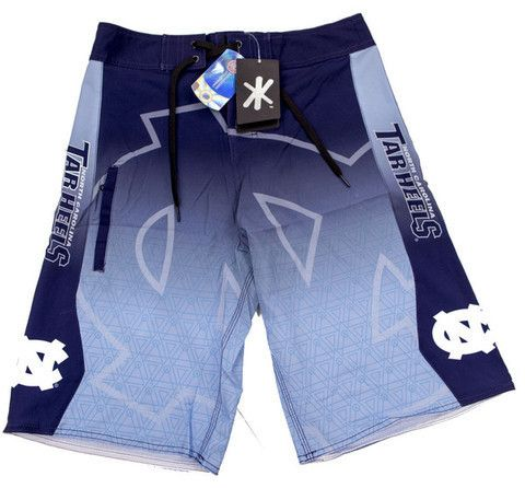 North Carolina Tarheels Official NCAA Board Shorts