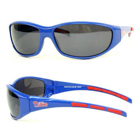 Philadelphia Phillies Men's Official MLB 3 Dot Sports Wrap Sunglasses
