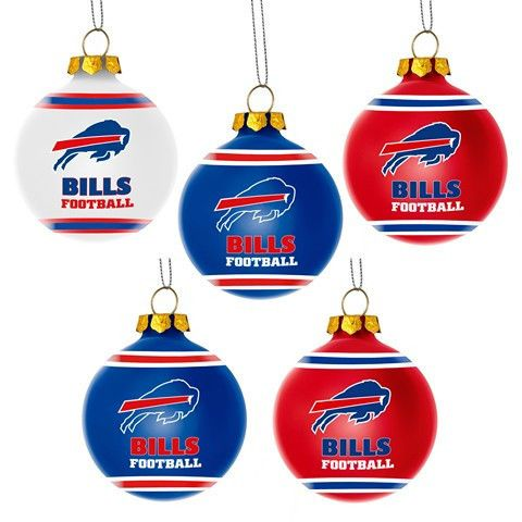 Buffalo Bills Official NFL 5 Pack Shatterproof Ball Ornament