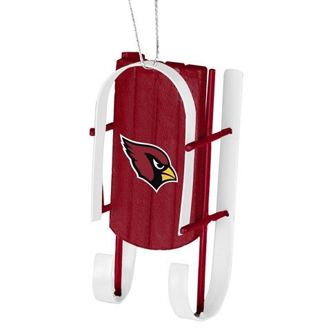 Arizona Cardinals Official NFL Resin Sled Ornament