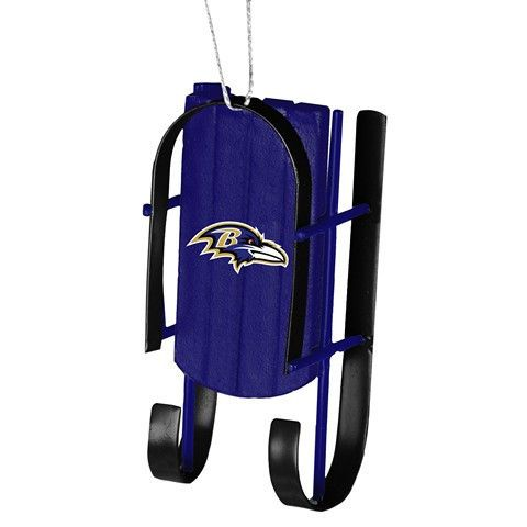 Baltimore Ravens Official NFL Resin Sled Ornament
