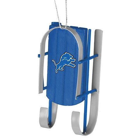 Detroit Lions Official NFL Resin Sled Ornament