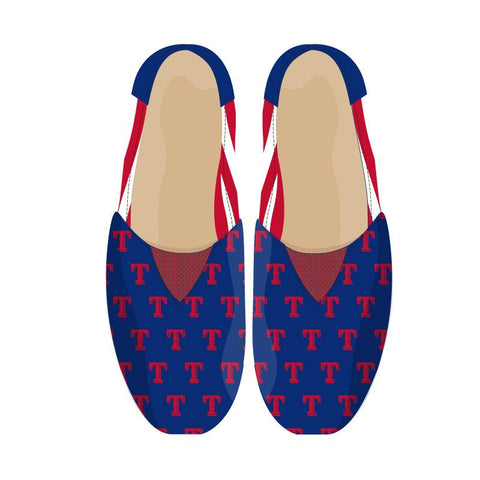New York Rangers Official NHL Stripe Canvas Shoes