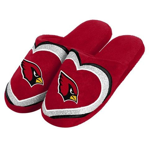 Arizona Cardinals Official NFL Womens Glitter Slide Slippers