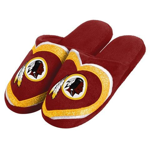 Washington Redskins Official NFL Womens Glitter Slide Slippers