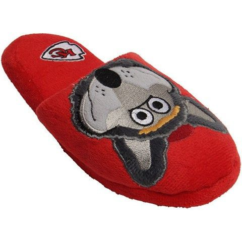 Kansas City Chiefs Official NFL Youth 8-16 Mascot Slide Slippers