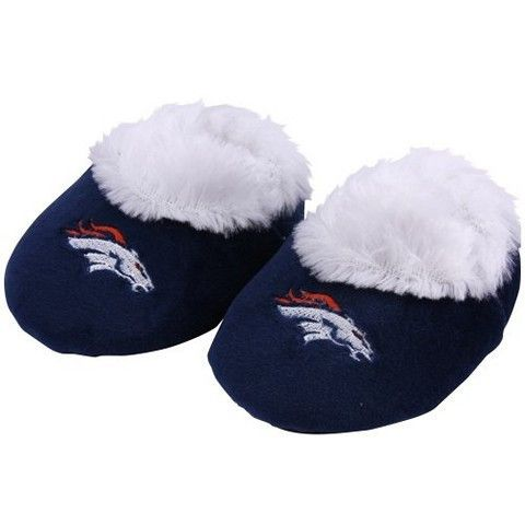 Denver Broncos Official NFL Baby Bootie Slippers