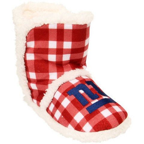 New York Giants Official NFL Flannel Sherpa Boots