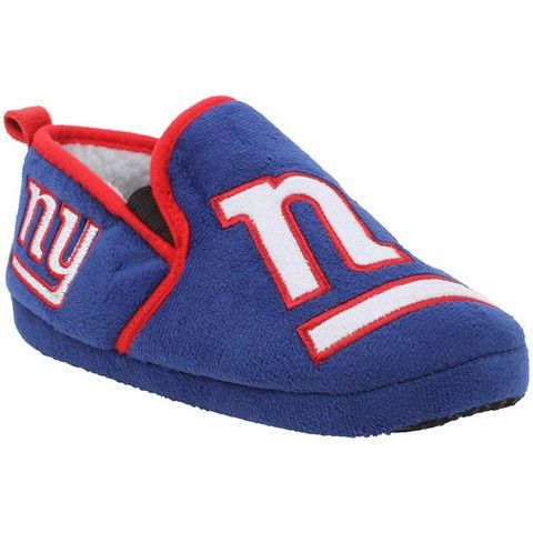 New York Giants Official NFL 8-16 Youth Sherpa Slippers