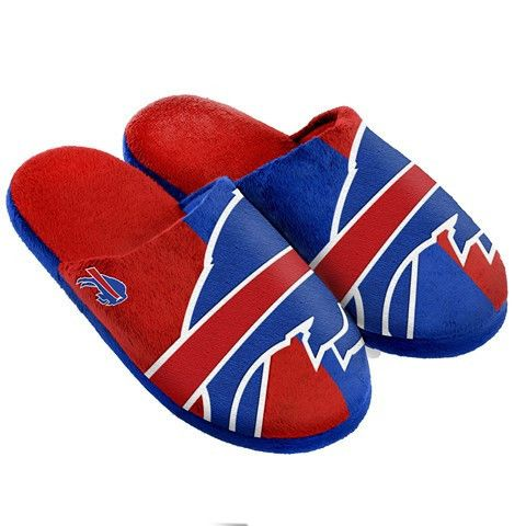 Buffalo Bills Official NFL Split Color Slide Men's Slippers