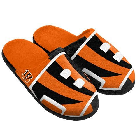 Cincinnati Bengals Official NFL Split Color Slide Men's Slippers