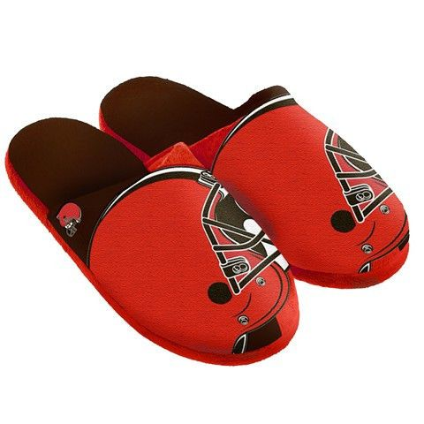 Cleveland Browns Official NFL Split Color Slide Men's Slippers