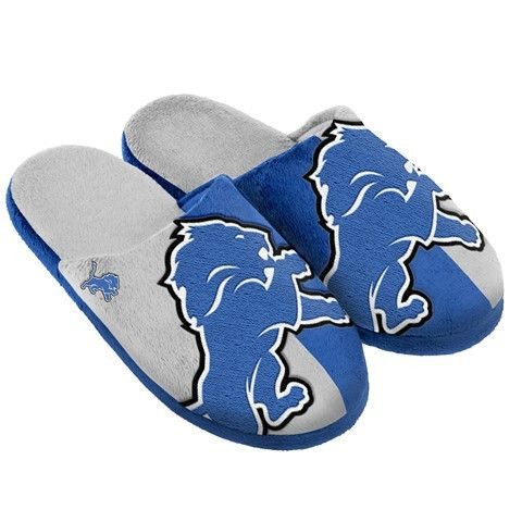 Detroit Lions Official NFL Split Color Slide Men's Slippers
