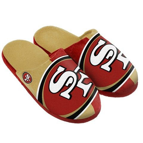 San Francisco 49ers Official NFL Split Color Slide Men's Slippers