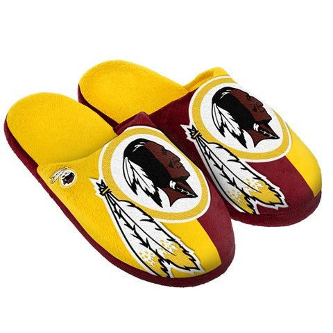 Washington Redskins Official NFL Split Color Slide Men's Slippers