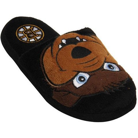 Boston Bruins Official NHL Youth 8-16 Mascot Slide Slippers