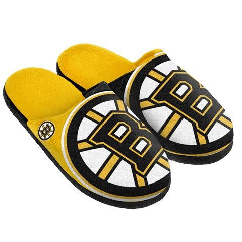 Boston Bruins Official Nhl Split Color Slide Men's Slippers