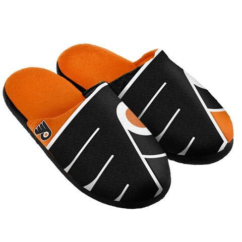 Philadelphia Flyers Official NHL Split Color Slide Men's Slippers